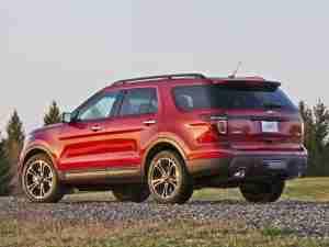 Ford Explorer Sport 2013 вид сзади