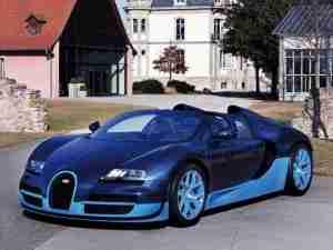 Темно синий Bugatti Grand Sport Vitesse