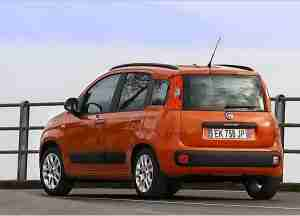 Fiat Panda 2013 года вид сзади